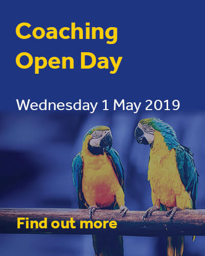 Coaching Open Day 2019 Ad