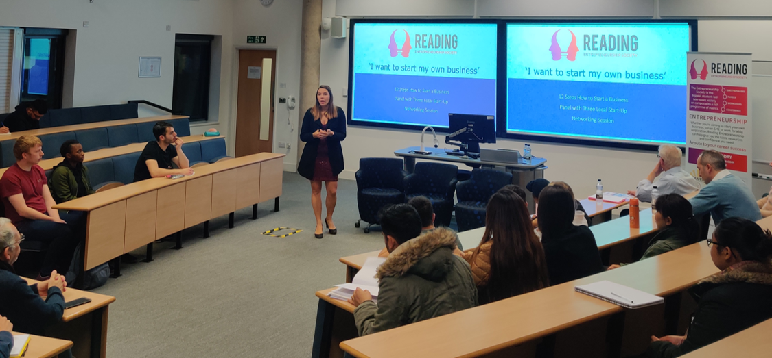 Students Gather for Entrepreneurship Society's '12 Important Steps for Starting a Business' Event