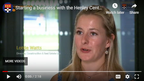Henley Centre for Entrepreneurship Releases New Video