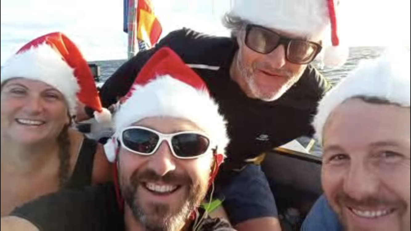 Heads Together and Row spend Christmas Day at sea