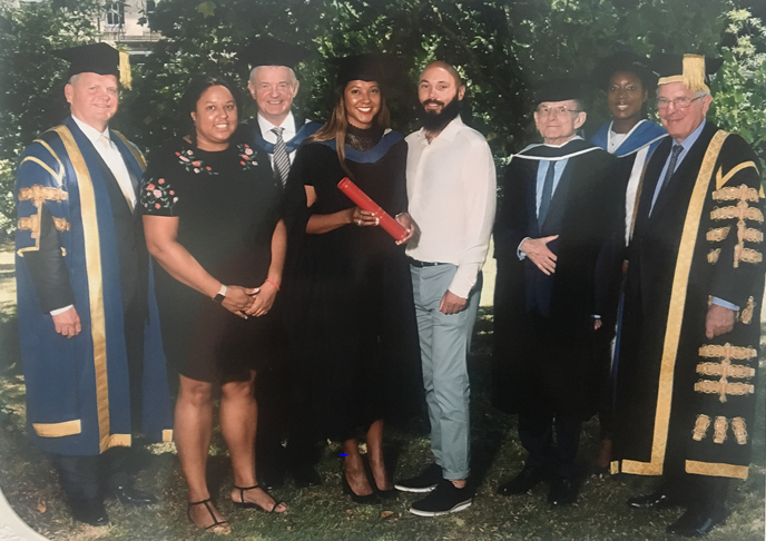 Joanna Abeyie Presented with the Distinguished Graduate of the Year 2019 Prize at University of Reading and Henley Business School Graduation Ceremony