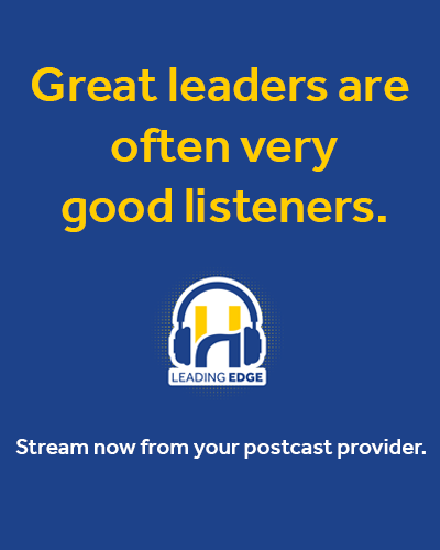 Leading Edge Advert Great Leaders Good Listeners