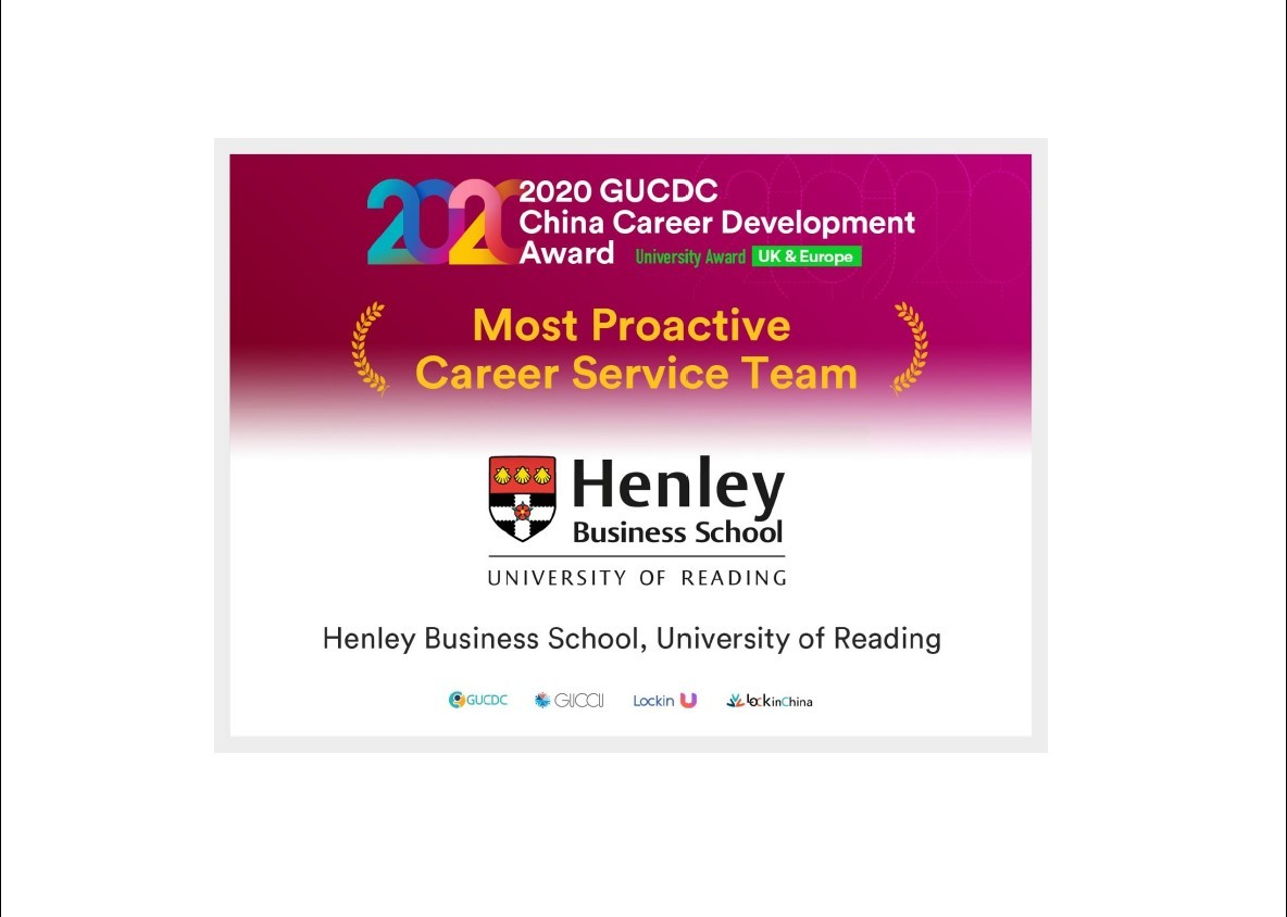 Henley Careers & Professional Development named Most Proactive Careers Service Team