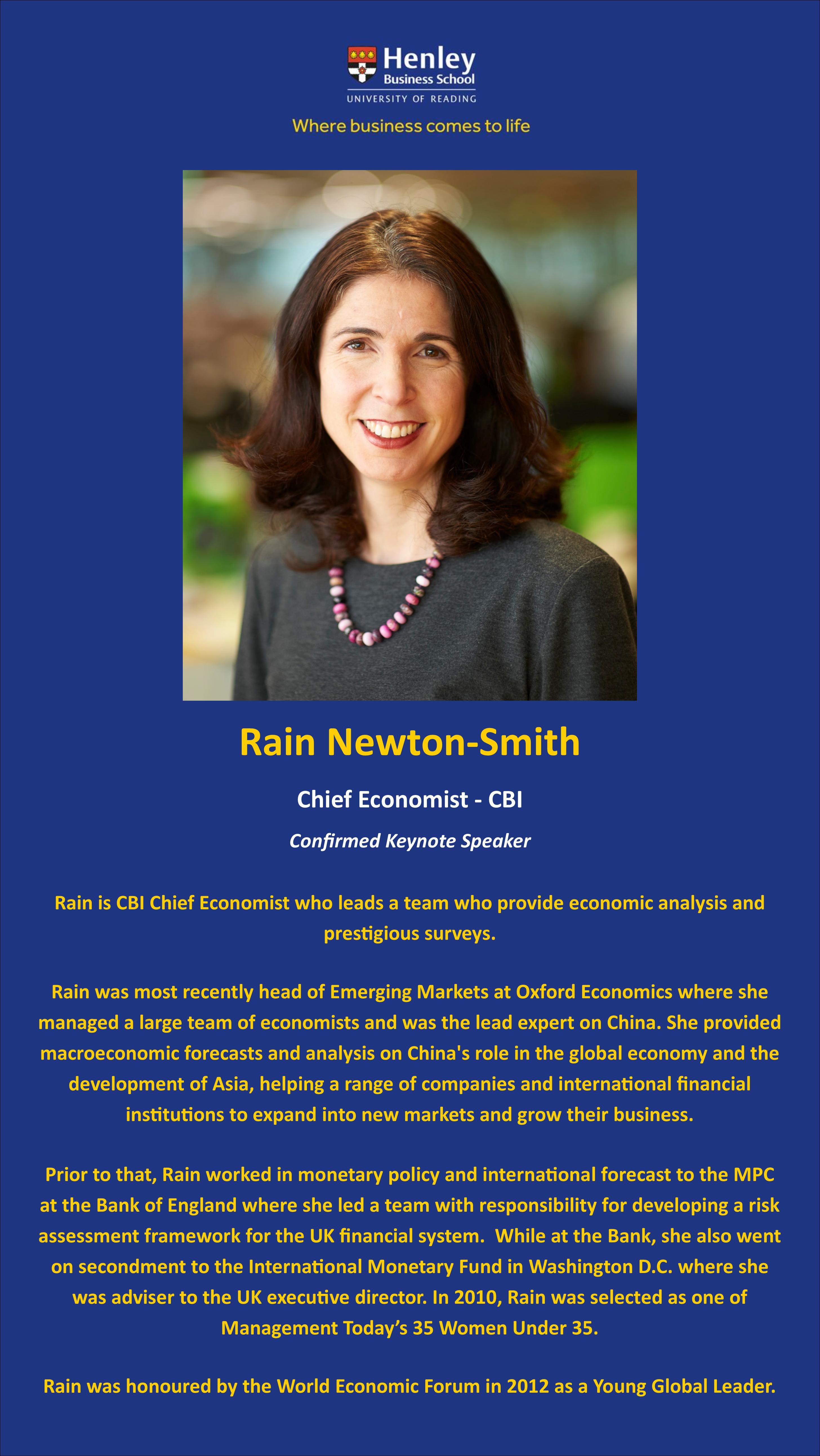 Rain Newton Smith Bio