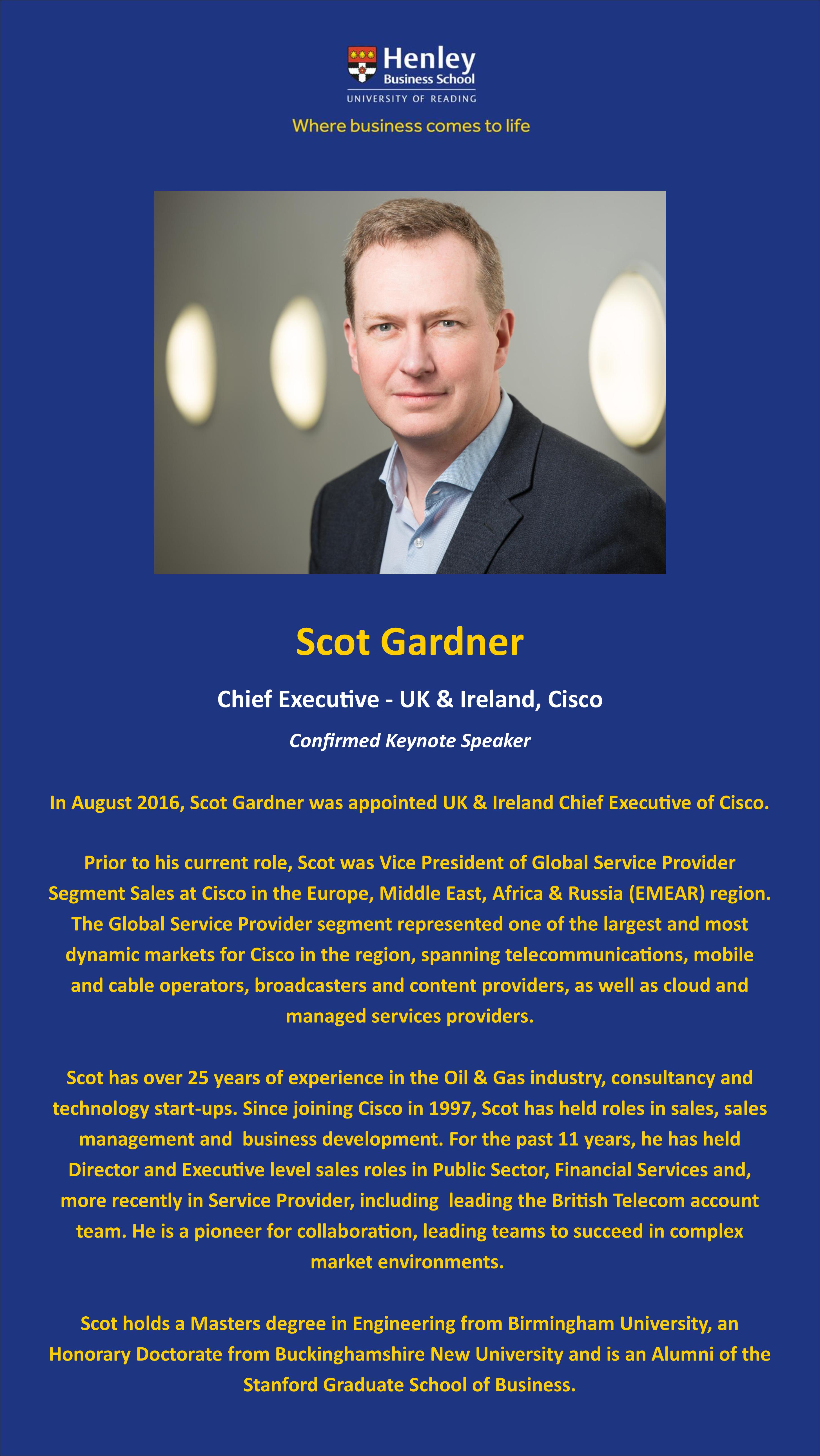 Scot Gardner Bio