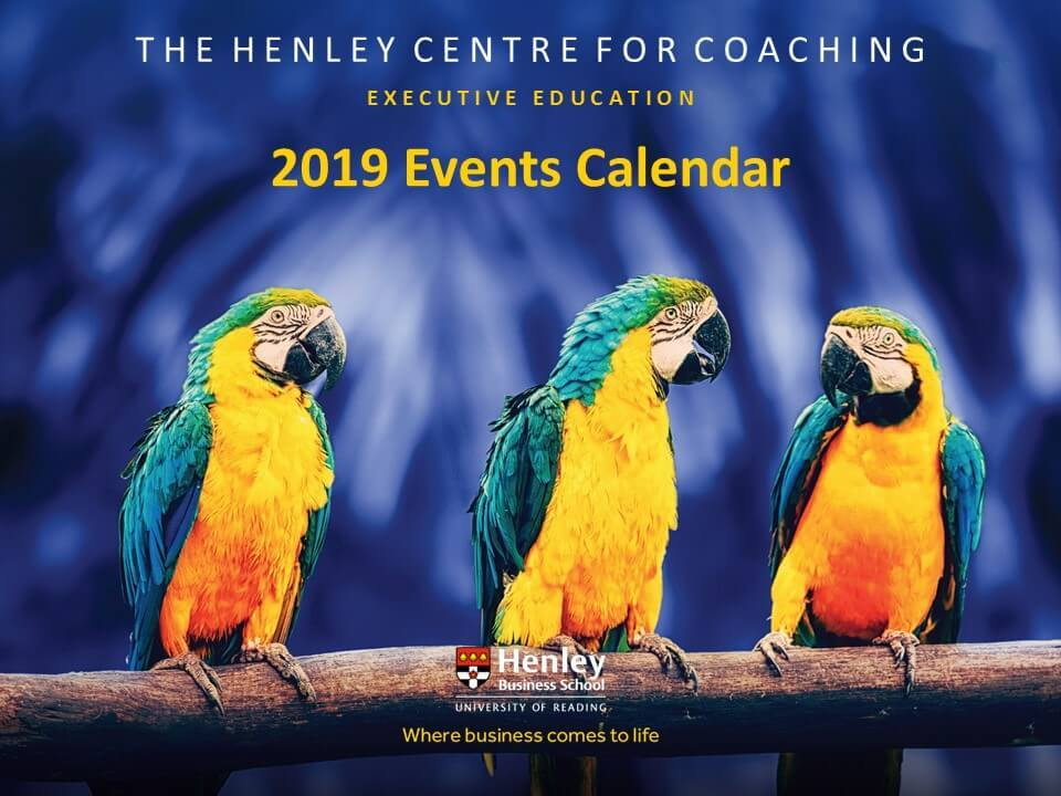 Coaching Events | Henley Business School