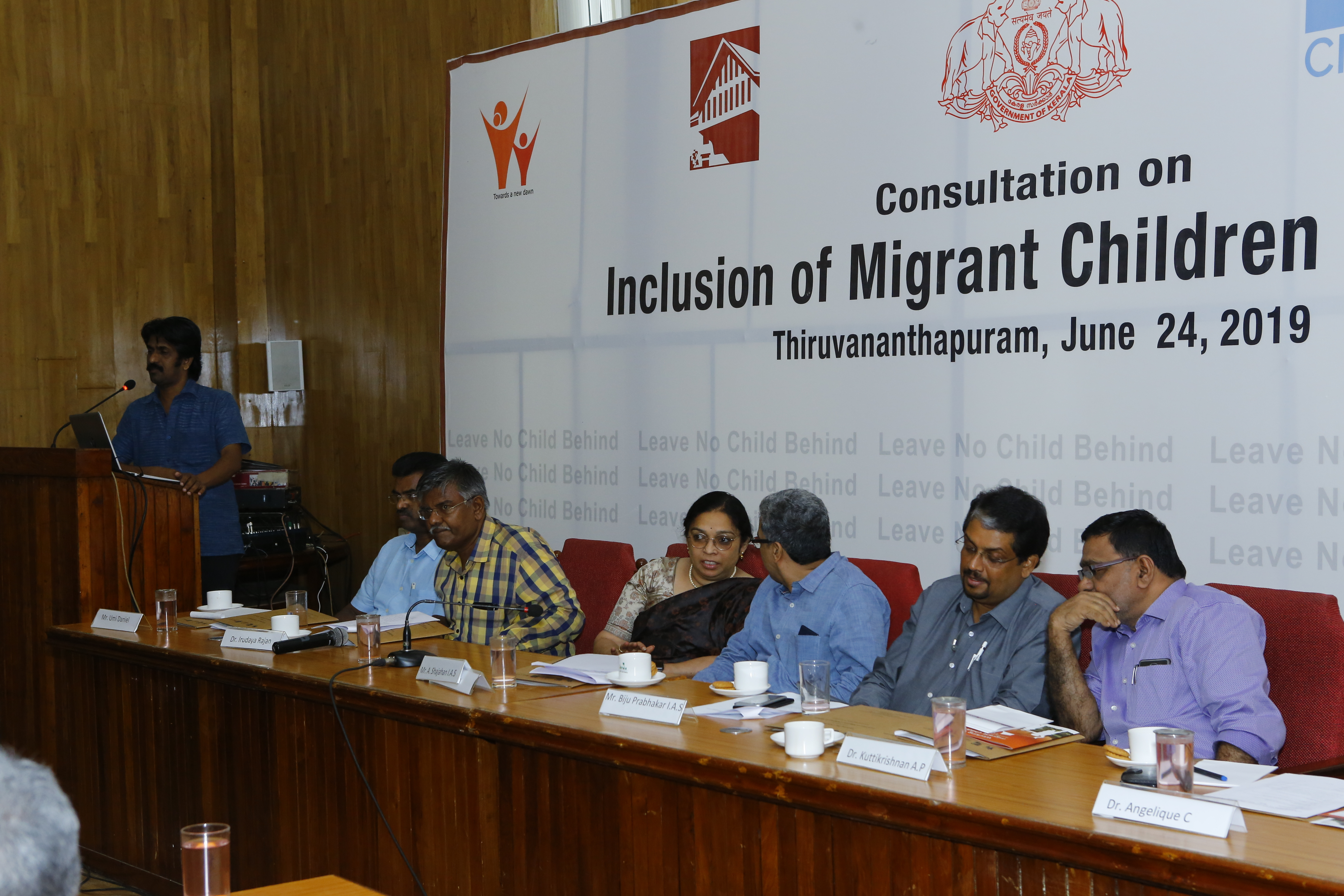 Angelique Chettiparamb gives opening remarks at Consultation on Inclusion of Migrant Children
