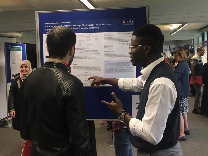PhD Student Samuel Lawal Presents at UoR Doctoral Research Conference