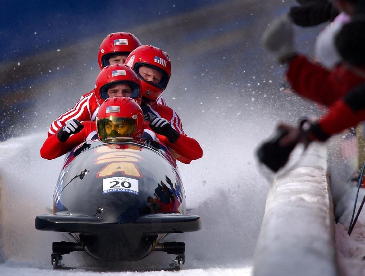 Winter Olympics Bobsled Image