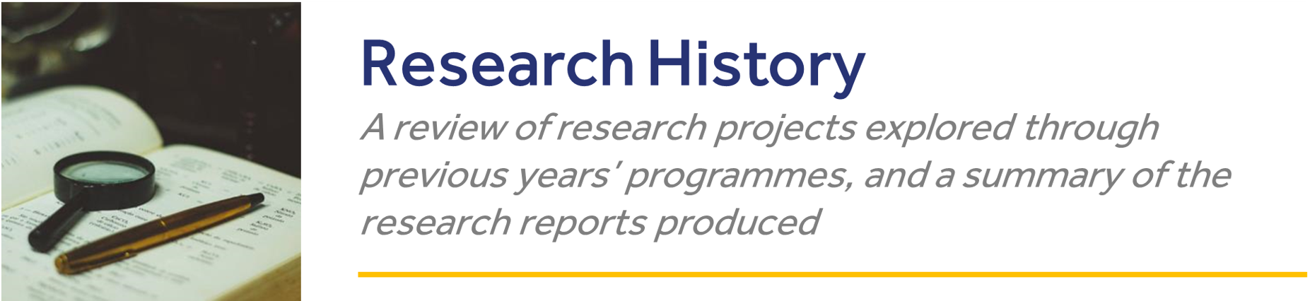 HCCM Research History