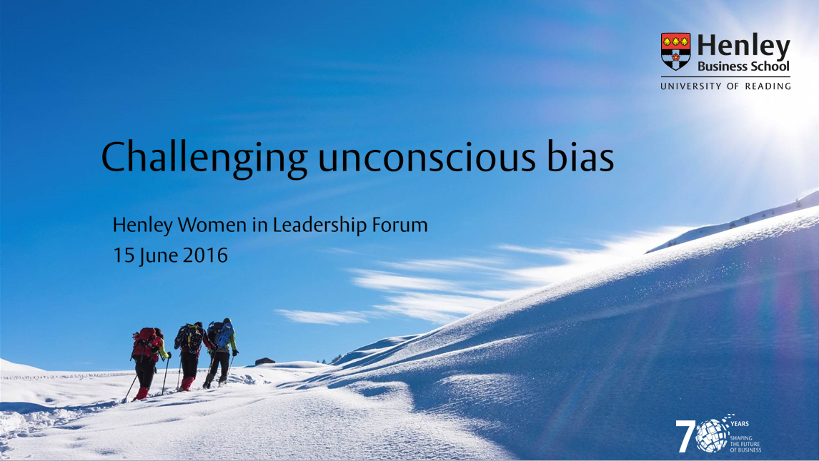 Women in Leadership Forum breakfast -  Challenging Unconscious Bias