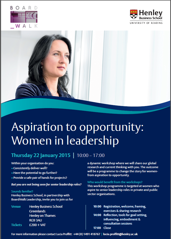 ASPIRATION TO OPPORTUNITY: Women in Leadership Think Tank
