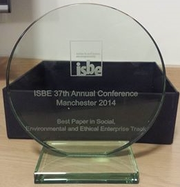Dr David Littlewood wins ISBE Conference Best Paper in Track Prize