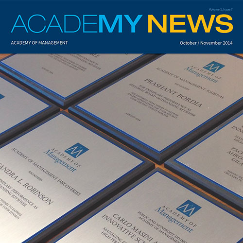 Henley Forum directors receive Academy of Management Practical Theory Award