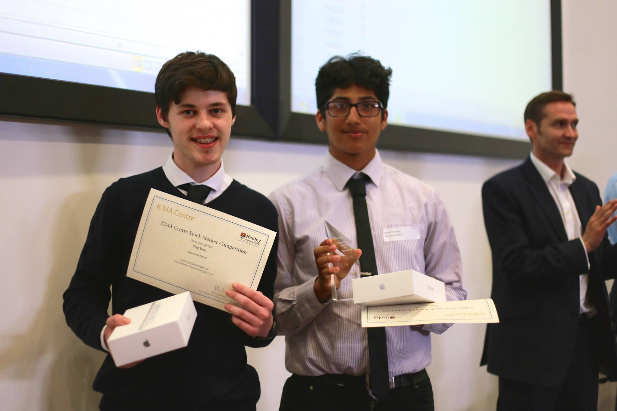 Bulmershe students take top position in ICMA Centre 2015 Stock Market Competition