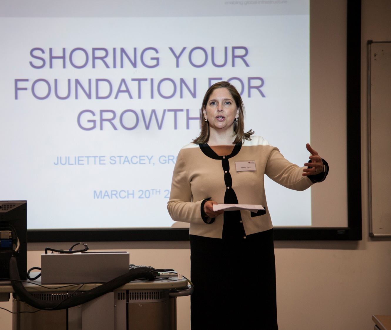 First class talk by Juliette Stacey, Group CEO of Mabey Holdings
