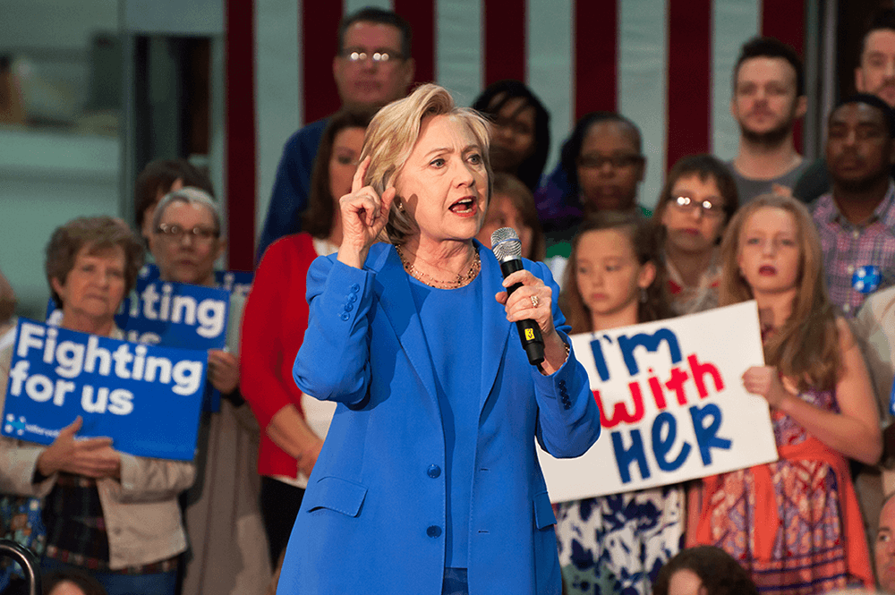 Would a Hillary win help or hinder gender balance?