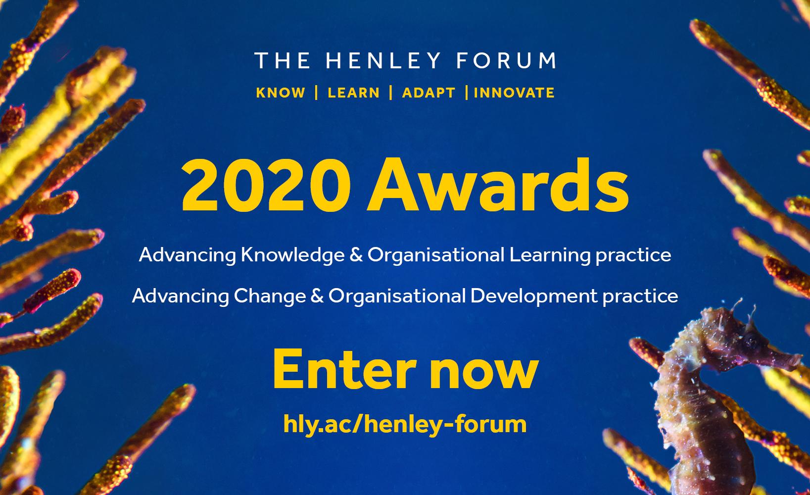 The Henley Forum 2020 Awards | Henley Business School