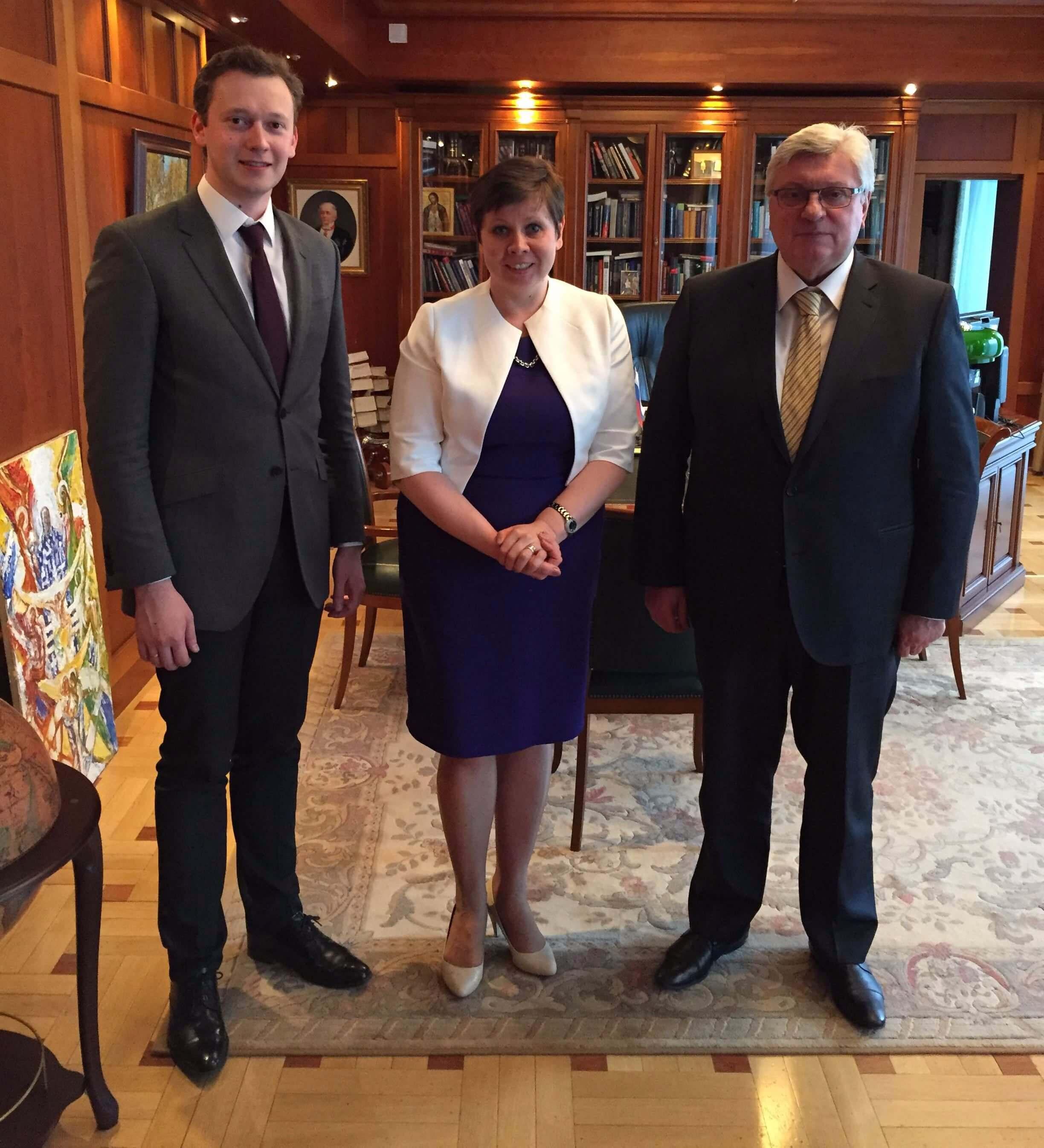 Professor Yelena Kalyuzhnova met with Academician Torkunov, Rector of MGIMO