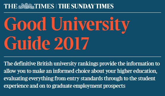 Top Ten position in Good University Guide for both REP subject areas