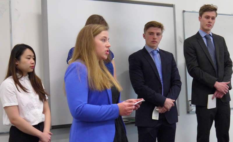Real Estate & Planning Students in Dragons' Den Event