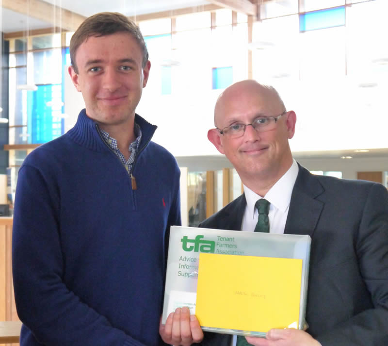 REP student receives prize from Tenant Farmers Association
