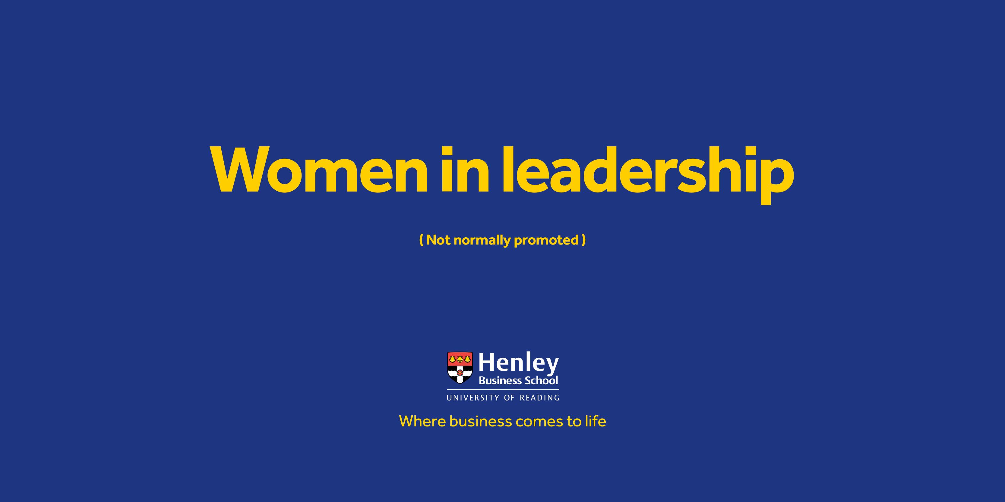 Women in Leadership Scholarship now open