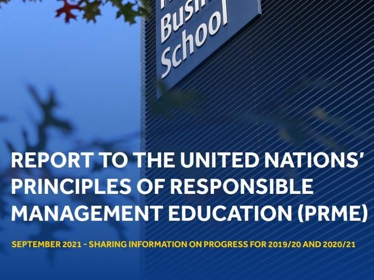 UN PRME report shares Henley's progress towards sustainable development goals