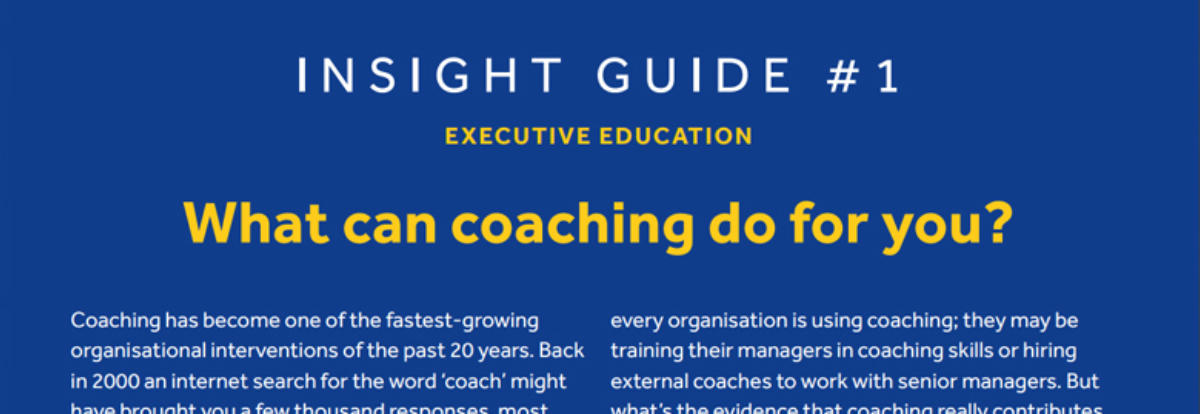 What can coaching do for you?