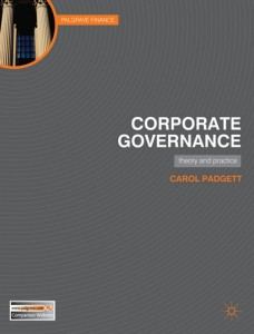 Corporate Governance Book Jacket