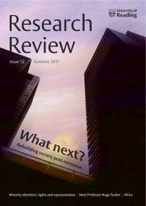 Research Review Summer 2011 - Cover image