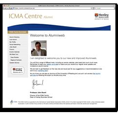 Alumni website screengrab