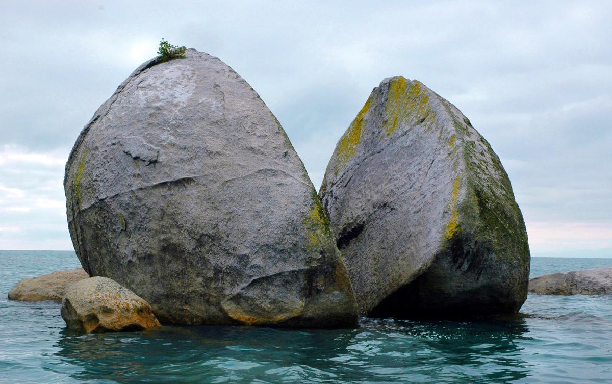 Split apple rock 1379021