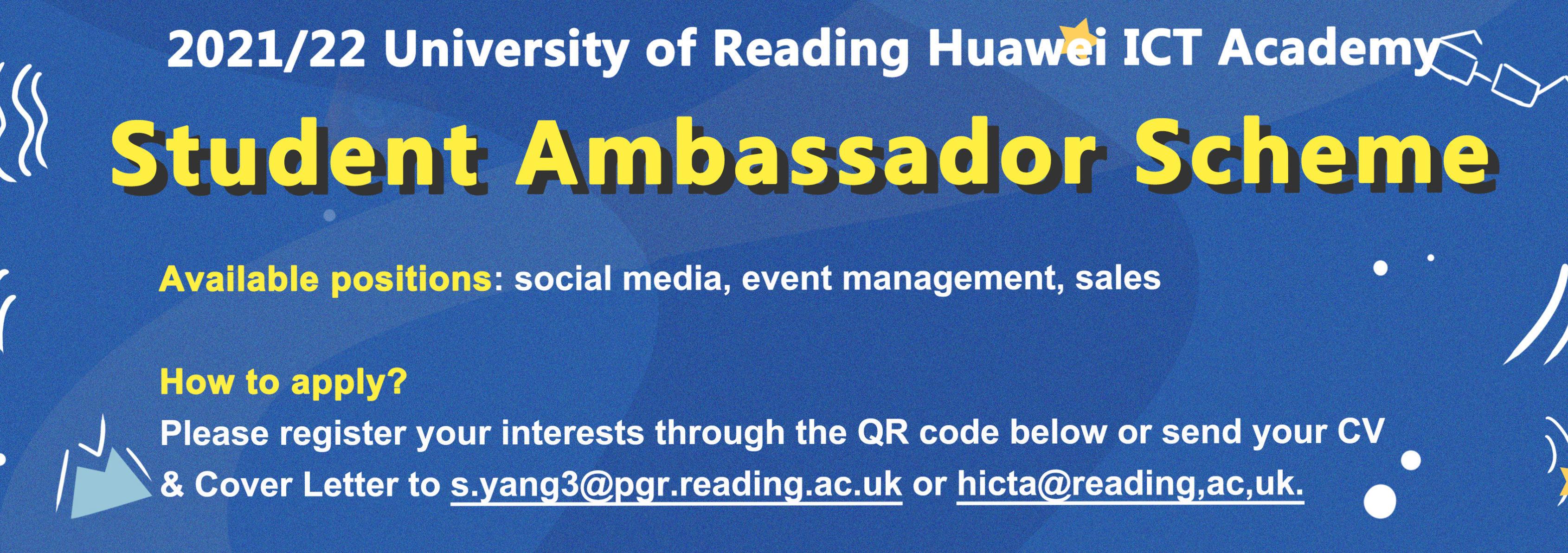 Please register our student ambassador scheme here.